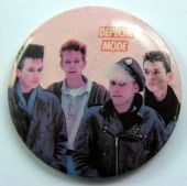 Depeche Mode - 'Group Pink' Vintage 32mm Badge